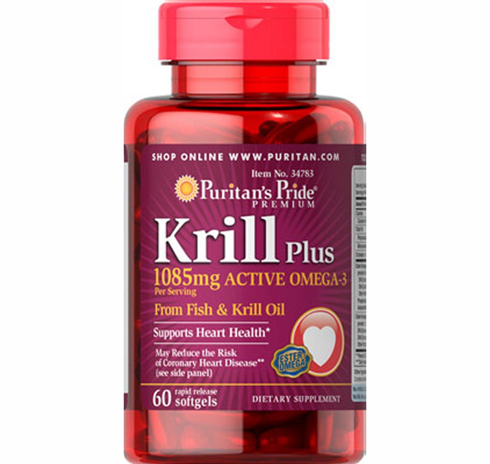 Krill plus omega 3 fish oil 60 softgels chromeshopping for Krill oil or fish oil